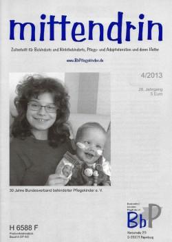 """Titelblatt 4/2013 der Zeitschrift """"mittendrin"""""""