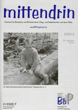 """Titelblatt 5/2013 der Zeitschrift """"mittendrin"""""""