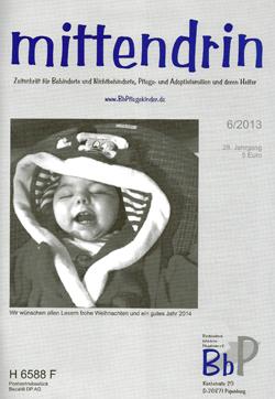 """Titelblatt 6/2013 der Zeitschrift """"mittendrin"""""""