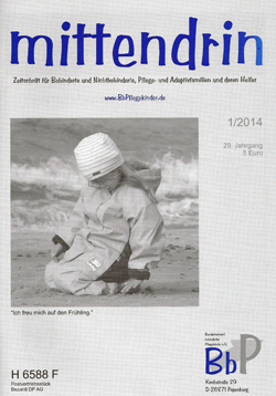 """Titelblatt 1/2014 der Zeitschrift """"mittendrin"""""""
