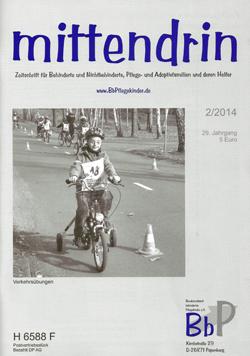 """Titelblatt 2/2014 der Zeitschrift """"mittendrin"""""""