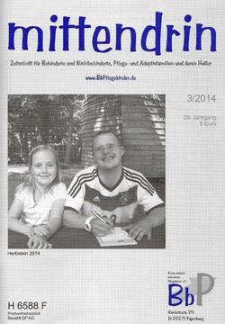 """Titelblatt 3/2014 der Zeitschrift """"mittendrin"""""""