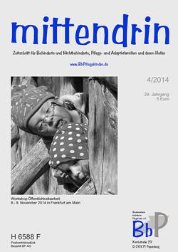 """Titelblatt 4/2014 der Zeitschrift """"mittendrin"""""""