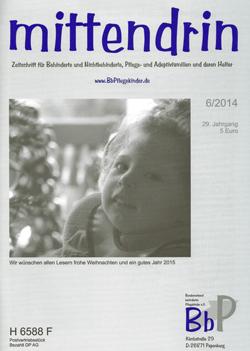 """Titelblatt 6/2014 der Zeitschrift """"mittendrin"""""""
