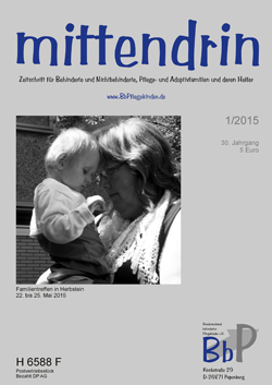 """Titelblatt 1/2015 der Zeitschrift """"mittendrin"""""""