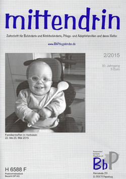 """Titelblatt 2/2015 der Zeitschrift """"mittendrin"""""""