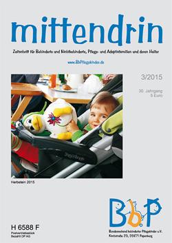"""Titelblatt 3/2015 der Zeitschrift """"mittendrin"""""""