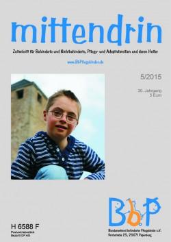 """Titelblatt 5/2015 der Zeitschrift """"mittendrin"""""""