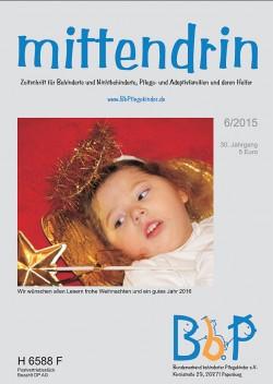 """Titelblatt 6/2015 der Zeitschrift """"mittendrin"""""""