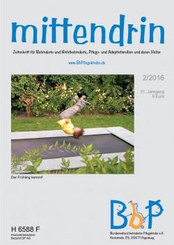 """Titelblatt 2/2016 der Zeitschrift """"mittendrin"""""""