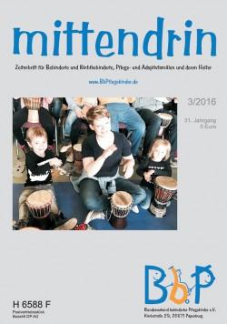 """Titelblatt 3/2016 der Zeitschrift """"mittendrin"""""""