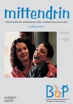 """Titelblatt 4/2016 der Zeitschrift """"mittendrin"""""""