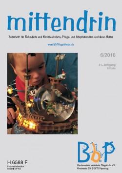 """Titelblatt 6/2016 der Zeitschrift """"mittendrin"""""""