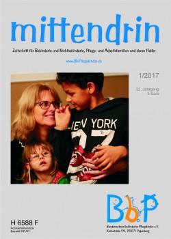 """Titelblatt 1/2017 der Zeitschrift """"mittendrin"""""""