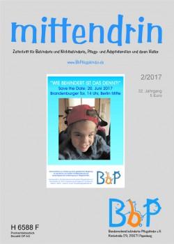 """Titelblatt 2/2017 der Fachzeitschrift """"mittendrin"""""""
