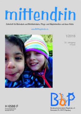 """Titelblatt 1/2018 der Zeitschrift """"mittendrin"""""""