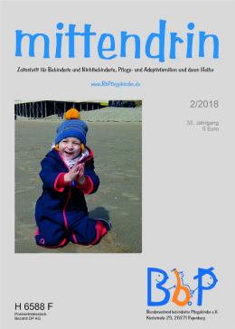 """Titelblatt 2/2018 der Fachzeitschrift """"mittendrin"""""""