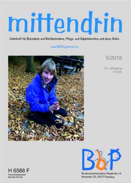 """Titelblatt 5/2018 der Zeitschrift """"mittendrin"""""""
