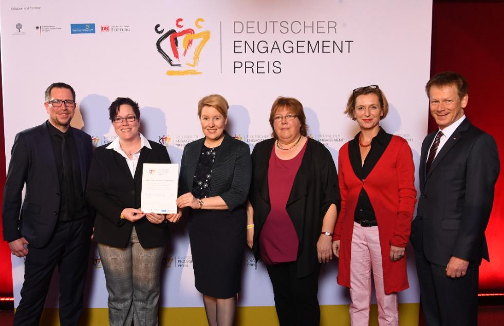 """Der BbP erhält den Deutschen Engagementpreis 2018 in der Kategorie """"Grenzen überwinden"""". [Foto: David Ausserhöfer]"""