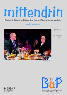 """Titelblatt 2/2019 der Zeitschrift """"mittendrin"""""""