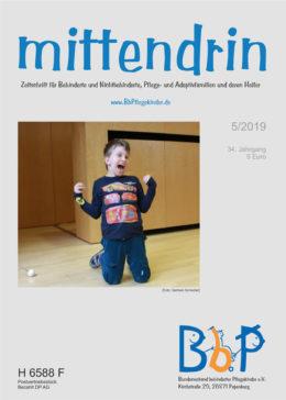 """Titelblatt 5/2019 der Zeitschrift """"mittendrin"""""""