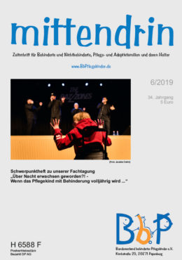 """Titelblatt 6/2019 der Zeitschrift """"mittendrin"""""""