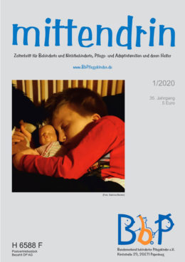 """Titelblatt 1/2020 der Zeitschrift """"mittendrin"""""""