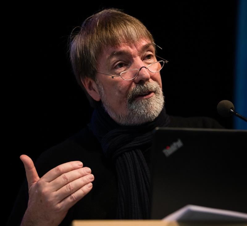 Dr. Christian Erzberger spricht auf der BbP-Fachtagung in Berlin. [Foto: Jacobia Dahm]