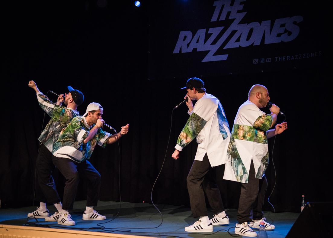 """Die Berliner Beat-Box-Gruppe """"The Razzzones"""" sorgte für ein mitreißendes Abendprogramm. [Foto: Jacobia Dahm]"""