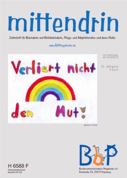 """Titelblatt 2/2020 der Zeitschrift """"mittendrin"""""""