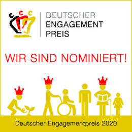 Websticker Deutscher Engagementpreis 2020 - Wir sind nominiert!