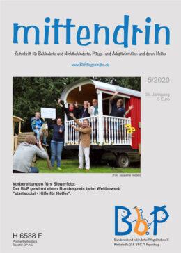"""Titelblatt 5/2020 der Zeitschrift """"mittendrin"""""""