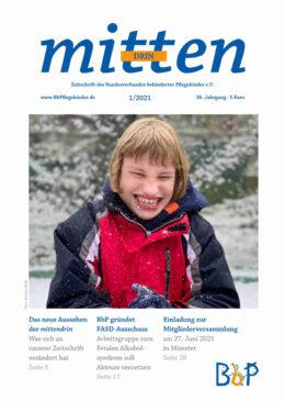 """Titelblatt 1/2021 der Zeitschrift """"mittendrin"""""""