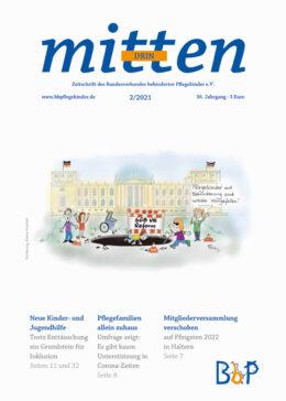 """Titelblatt 2/2021 der Zeitschrift """"mittendrin"""""""