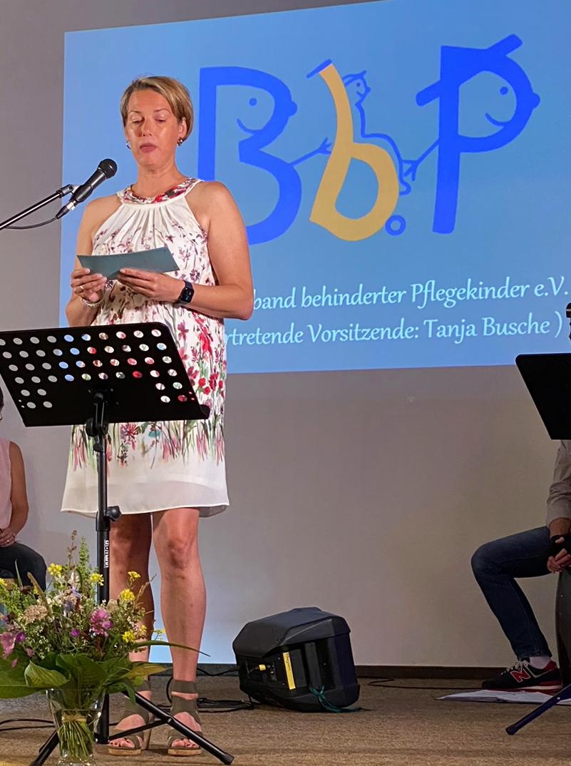 Die stellvertretende Vorsitzende des Bundesverbandes behinderter Pflegekinder e.V., Tanja Busche